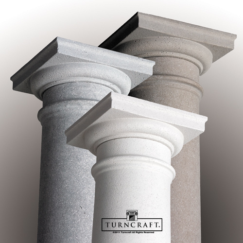 Poly classic duraglass columns tapered round for Polyurethane columns