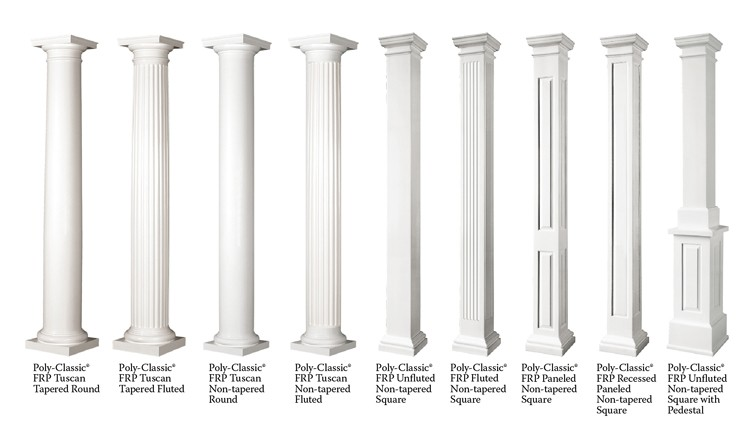 Poly Classic Frp Columns Non Tapered Round